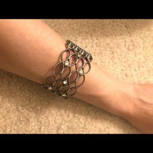 Express fashion bracelet dark grey color